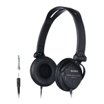 Casti on ear Sony MDR-V150B cu fir si adaptor jack
