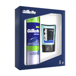 Set cadou Gillette Series Sensitive gel de ras si balsam Aftershave Gillette