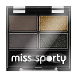 Fard de pleoape Miss Sporty Studio Quattro Eye Shadow 414 100% Smokey Eye, 1.4 g
