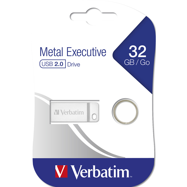 Verbatim USB 2.0  Metal Executive 32GB Argintiu