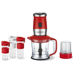 Mini blender 2 in 1 Concept SM3392 rosu cu 3 recipiente din tritan