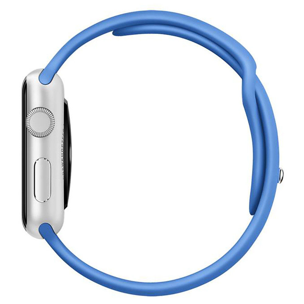 Apple Watch 42mm Sport argintiu cu curea albastra