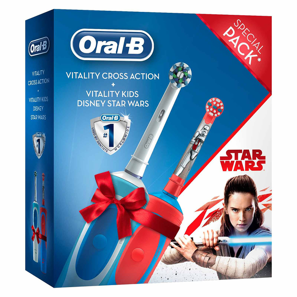 Periuta de dinti electrica Oral B Cross Action + Vitality Kids Star Wars