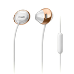 Casti in ear Philips SHE4205WT/00 albe cu microfon pe fir