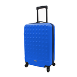Troler rigid Airport Basic albastru cu volum de 31L si maner fix
