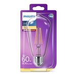 Bec LED Classic Philips 60W ST64 E27 WW CL ND 1BC/6