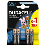 Baterie Duracell Turbo Max AAAK 3 + 1 gratis