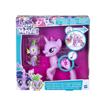 Set figurine My little pony, Twilight Sparkle si Spike canta duetul prieteniei