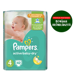 Pampers Active Baby numarul 4 maxi 42 bucati