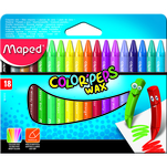 Set creioane colorate cerate Maped Color'peps pachet 18 bucati