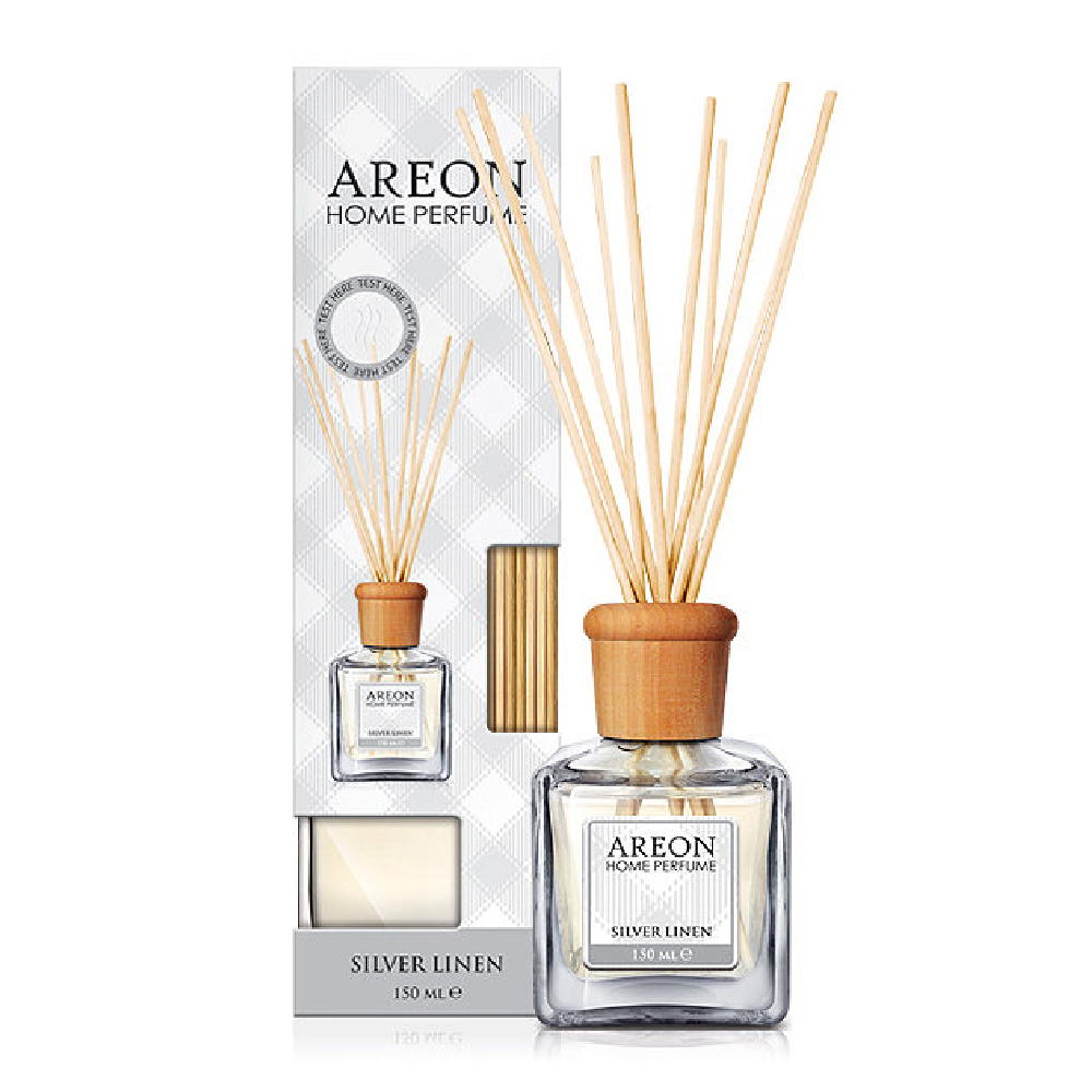 Parfum de camera cu betisoare Areon Home Perfume Silver Linen 150ml