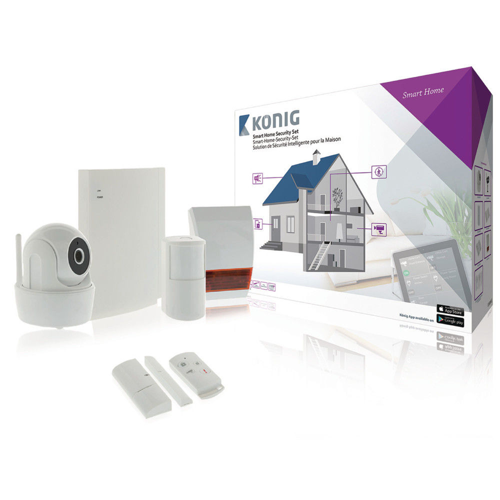 Kit sistem de alarma Konig cu camera video inclusa