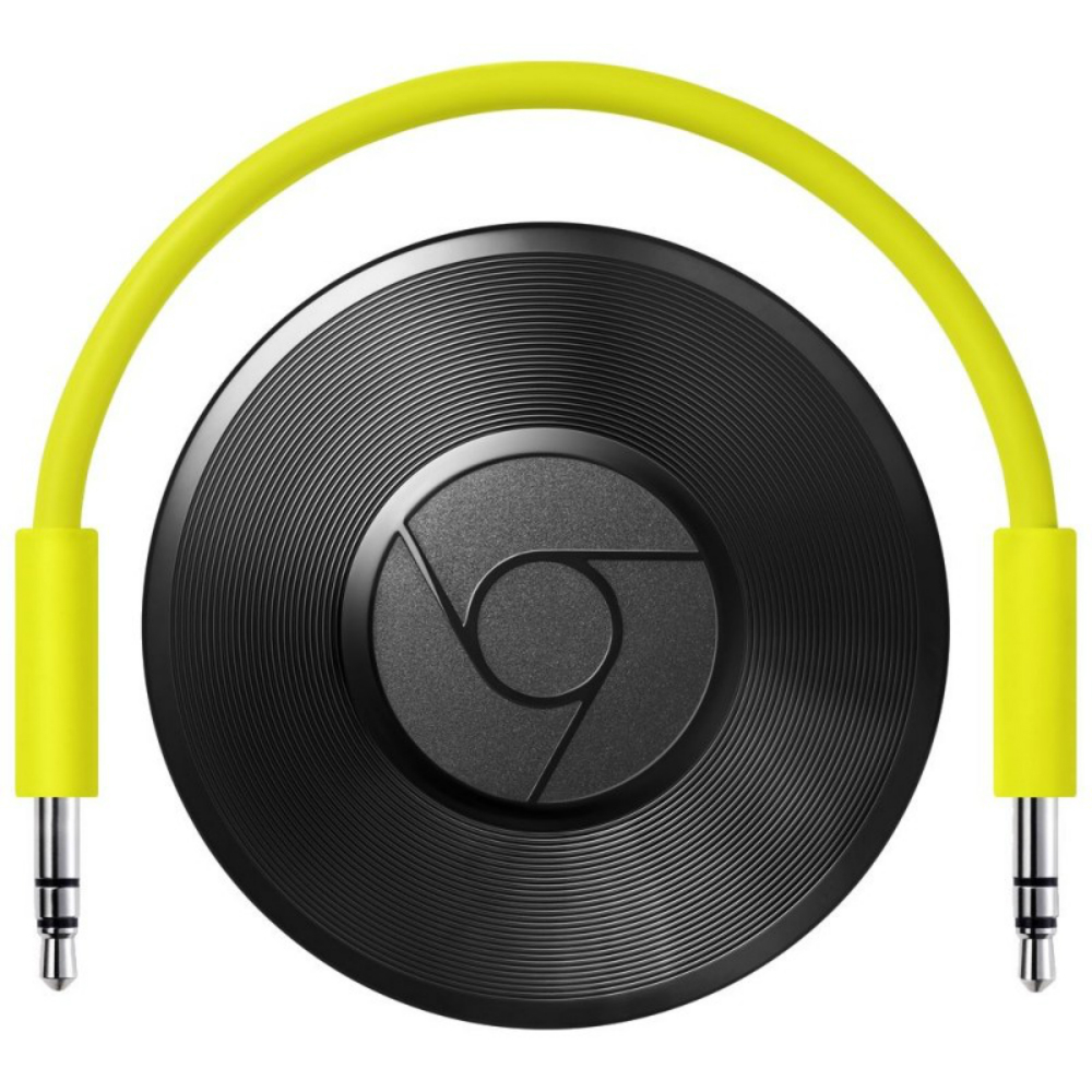 Media player Google Chromecast Audio cu conexiune Wi-Fi si jack de 3.5mm
