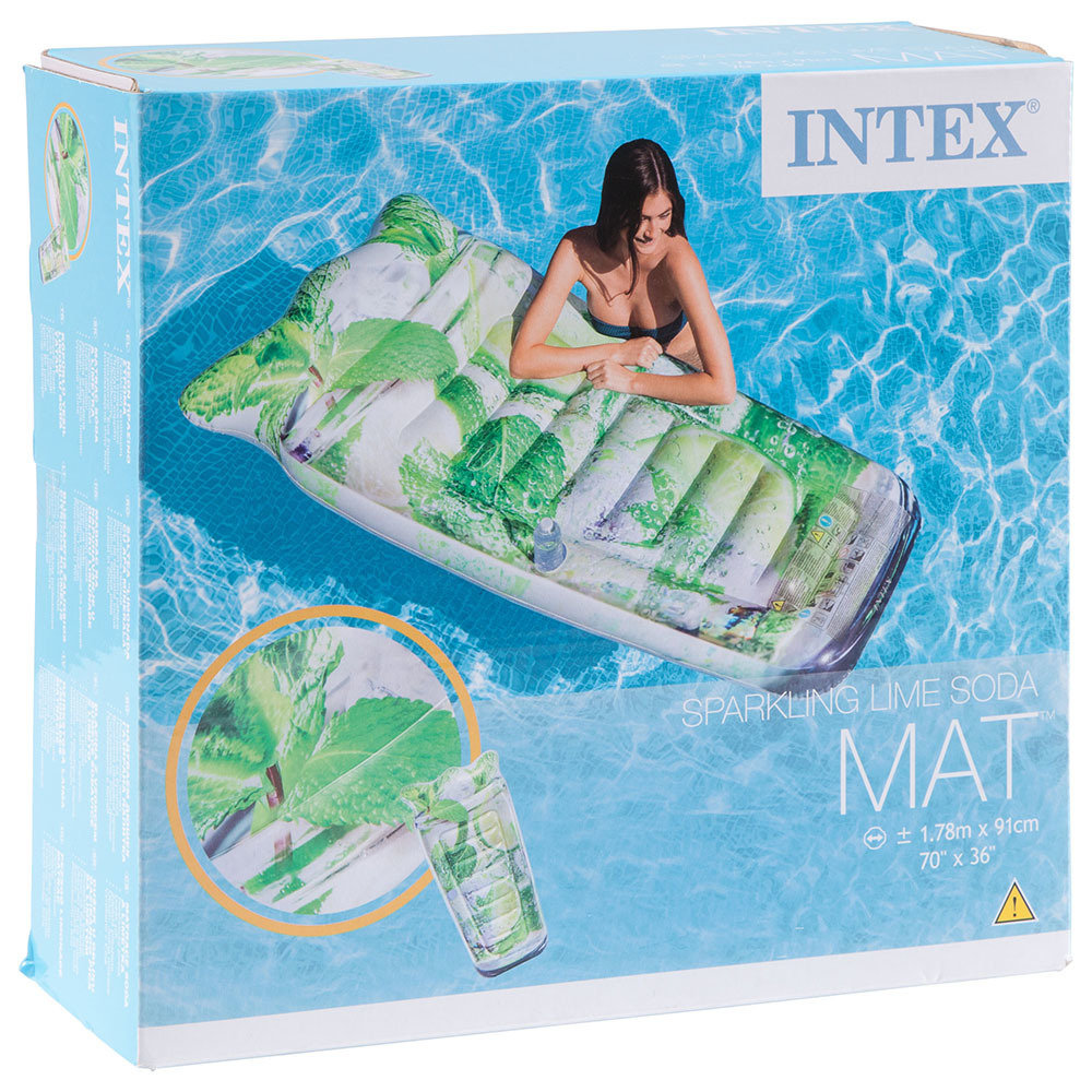 Saltea gonflabila Intex, model Sparkling Lime Soda