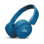 Casti bluetooth on ear JBL T450BT albastre cu microfon integrat