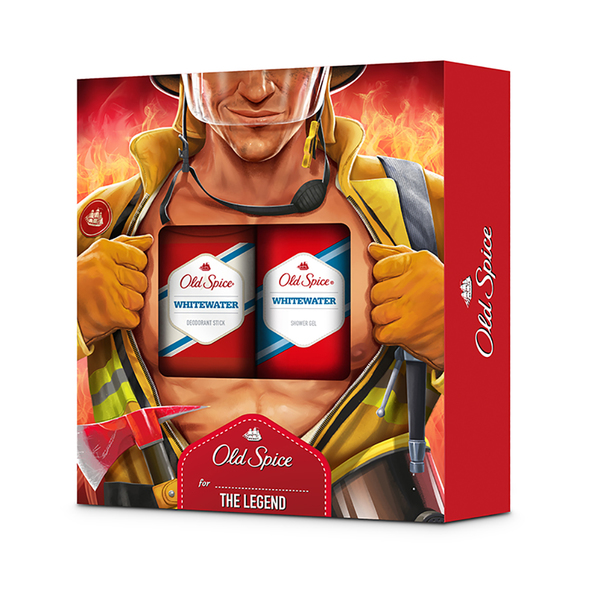Set cadou Old Spice Whitewater deodorant solid si gel de dus