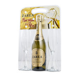 Set vin demisec Zarea Crystal Collection 0.75 l si 2 pahare