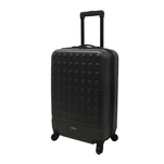 Troler rigid Airport Basic negru cu volum de 31L si maner fix