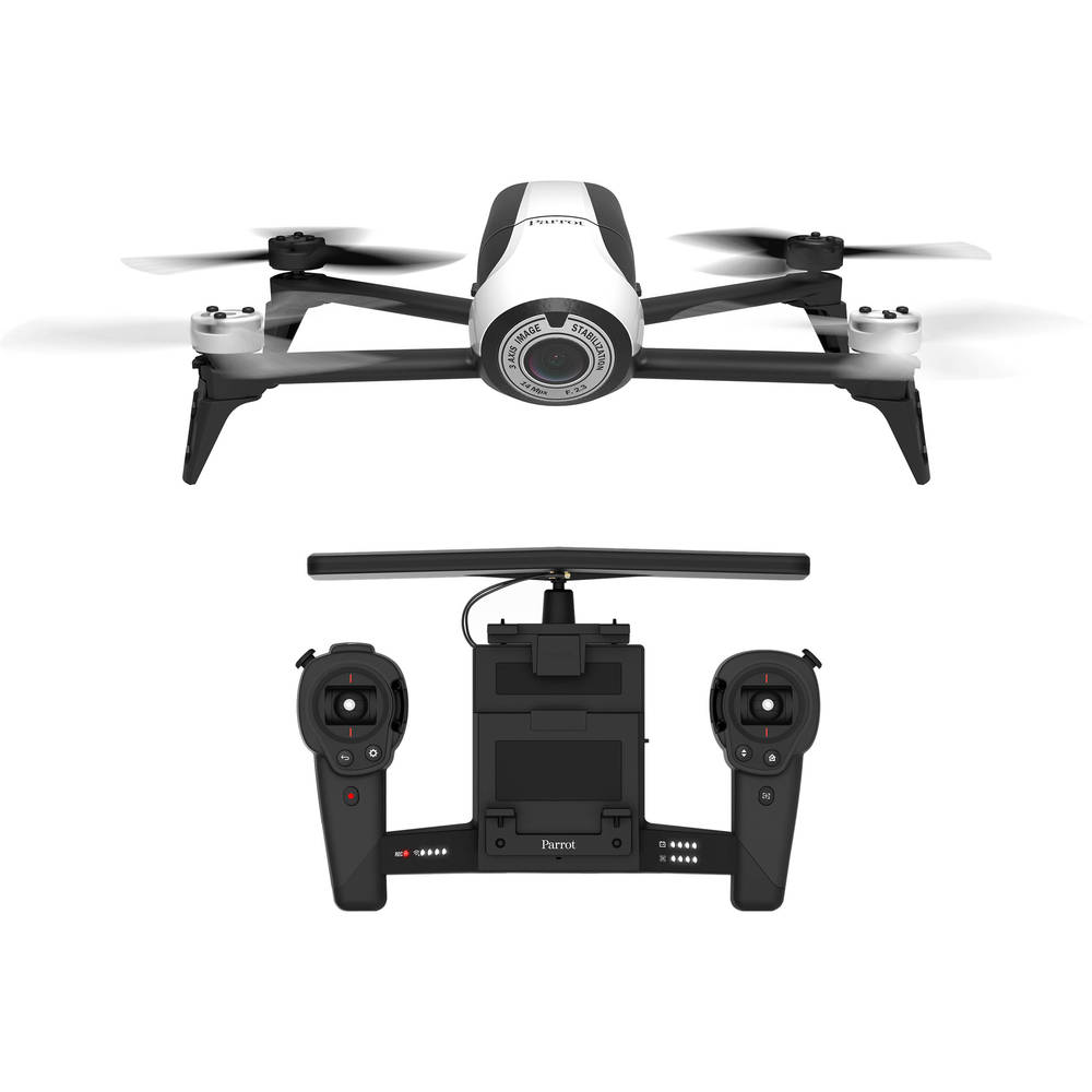 Drona Parrot Bebop 2 Quadcopter cu camera video HD alba