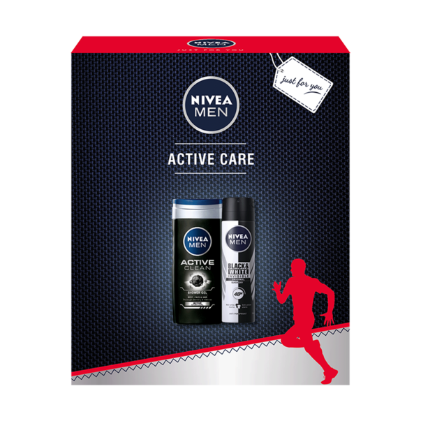 Set cadou Nivea Men Active Care cu deodorant si gel de dus