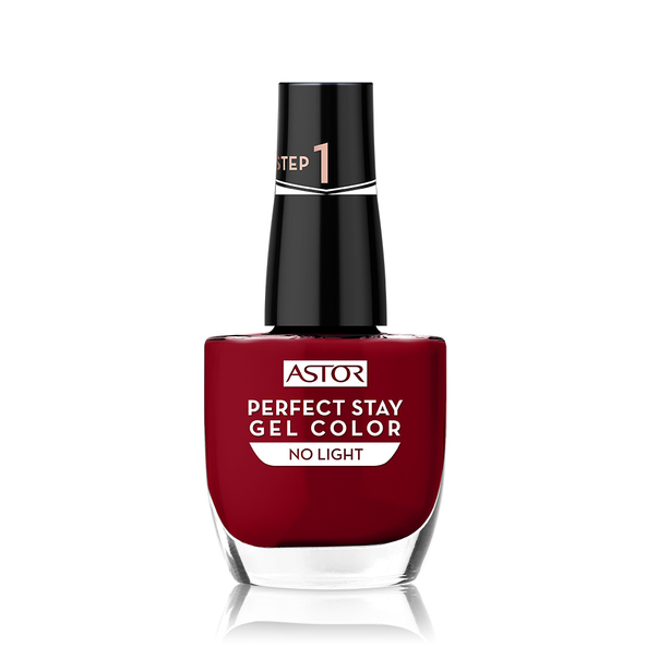 Lac de unghii Astor Perfect Stay Gel, 019 Fashionably Red, 12 ml