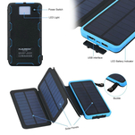 Power bank solar cu capacitate de 10.000mAh si 2 porturi USB