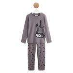 Pijama gri INEXTENSO din jersey, in doua piese