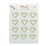 Set 12 agrafe din metal Auchan, in forma de diamant