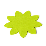 Placemat decorativ in forma de floare, fetru verde, 20 cm