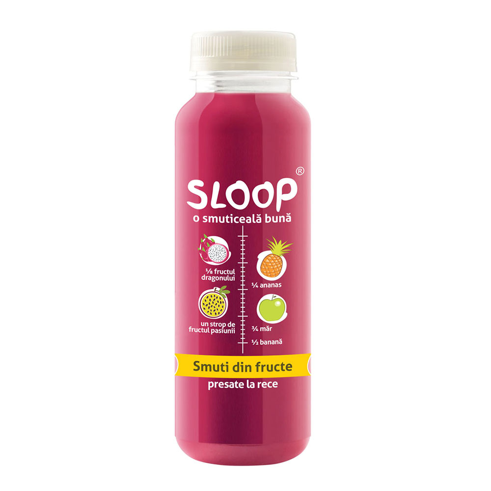Suc natural Sloop Smoothie de fructul dragonului, 250 ml