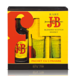 Scotch Whisky J&B + 2 pahare 0.7 l