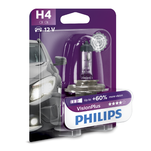 Bec far auto Philips Vision Plus H4 12V 55W cu halogen