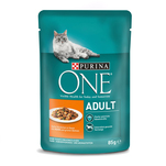 Purina ONE Mini file cu pui si fasole verde in sos, Adult, 85 g