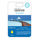 Cartus galben Qilive 12ml compatibil HP 364XL Yellow