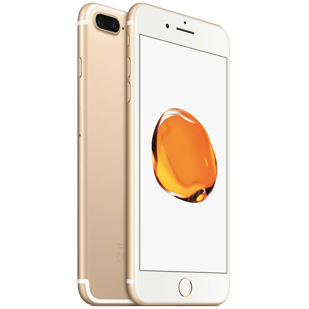 Telefon mobil Apple iPhone 7 Plus auriu 4G cu camera duala si memorie de 32GB