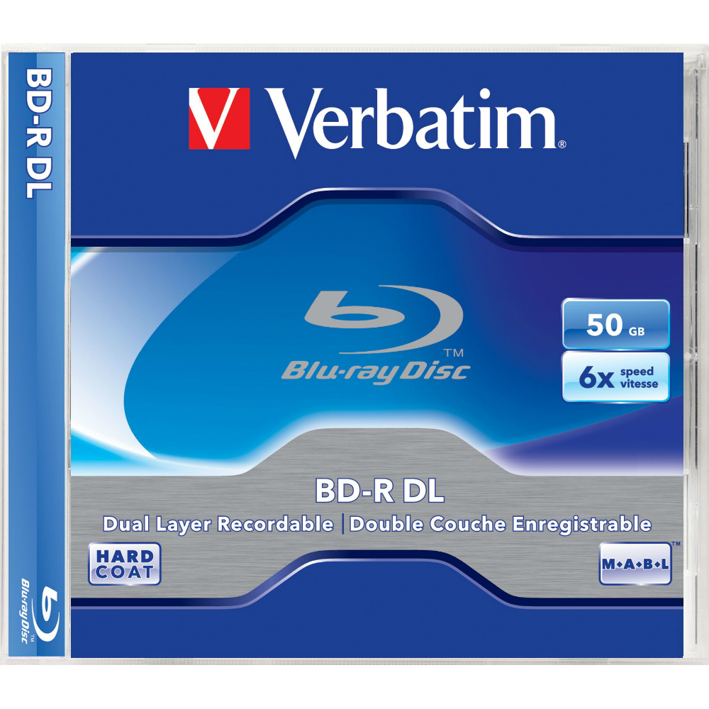 Disc Blu-Ray dual layer 50GB Verbatim cu tehnologia Hard Coat