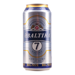 Bere Baltika No.7,  blonda, doza 1L