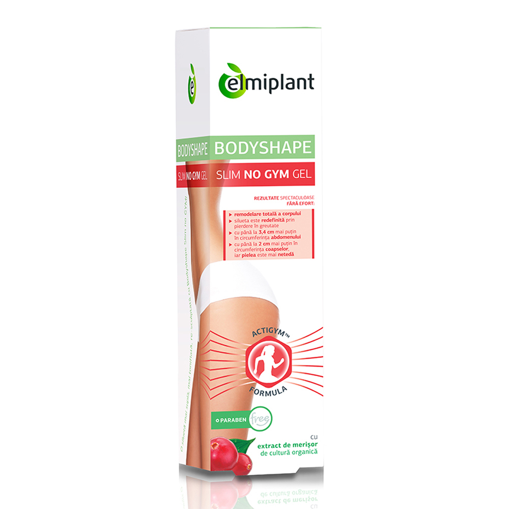 Gel anticelulitic Elmiplant BodyShape No gym 150 ml