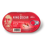 Macrou file in sos de rosii King Oscar 170g