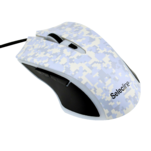 Mouse gaming Selecline Camouflage Pixalized Winter cu 6 butoane si rezolutie de 2400DPI