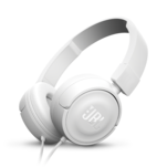 Casti JBL T450 albe on ear cu fir si microfon