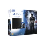 Pachet consola Sony PlayStation 4 1TB neagra cu joc cadou Uncharted 4