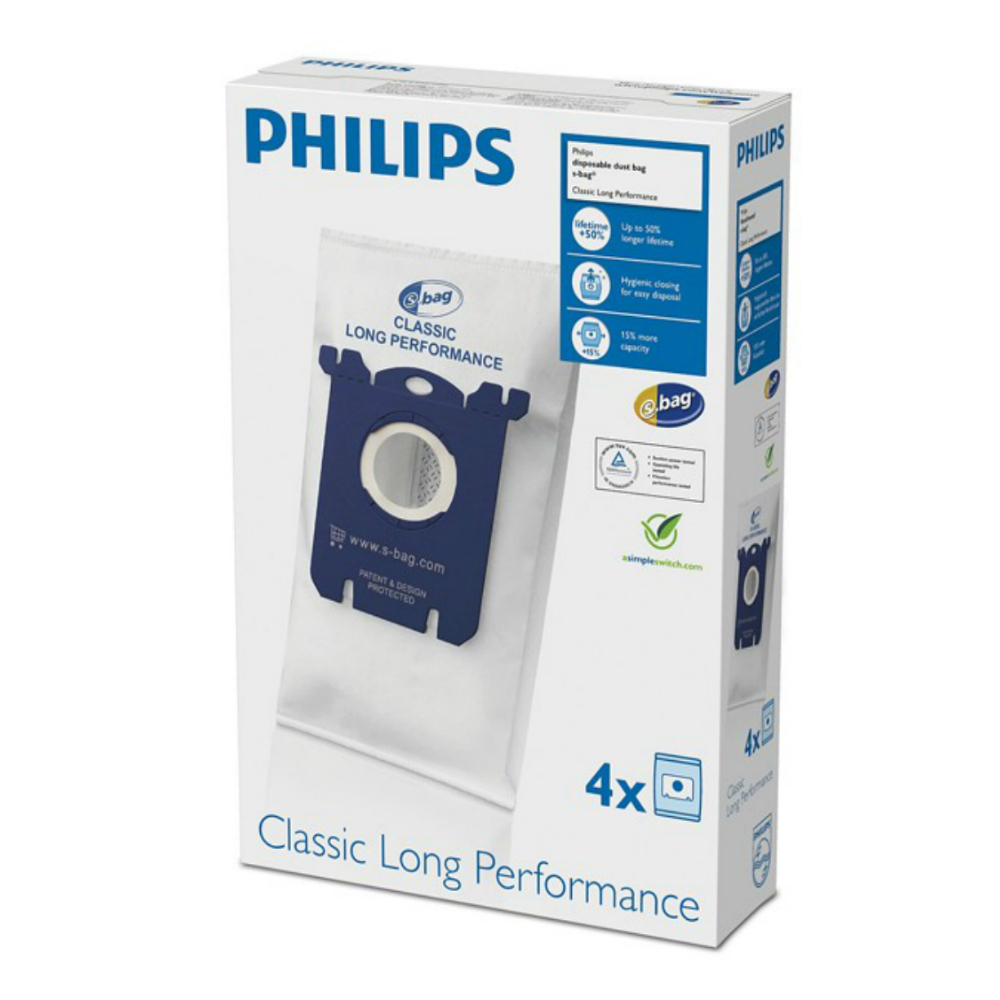 Set 4 saci de aspirator PHILIPS S-Bag FC8021/03
