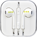 Casti ABC Tech albe in ear cu fir si microfon