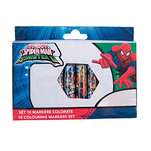 Set markere colorate Spider Man pachet 10 bucati