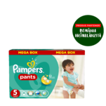 Scutece Pampers Pants Nr. 5 Mega Box Junior, 96 bucati