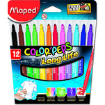 Set carioci Maped Color'peps long life pachet 12 bucati