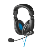 Casti gaming Trust Quasar over the ear cu microfon pe fir si mufa USB