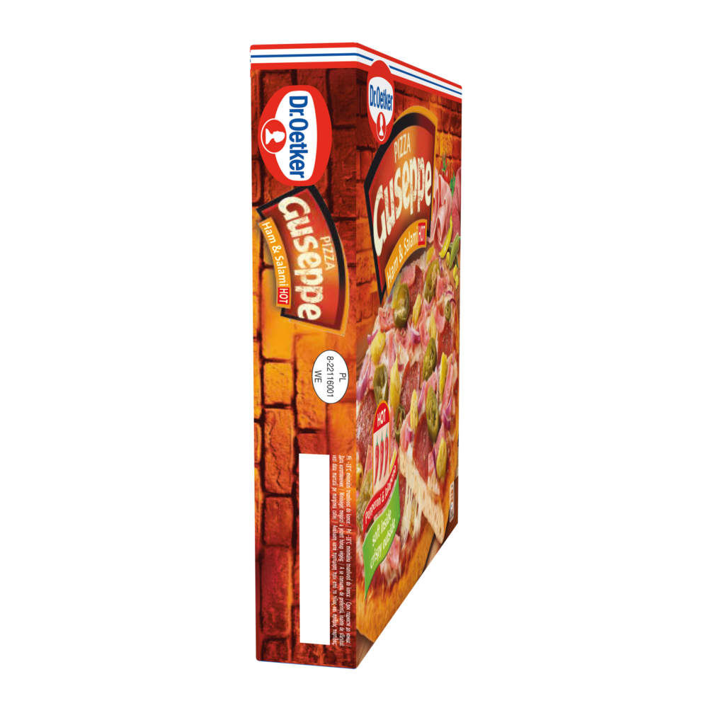 Pizza Guseppe Dr. Oetker cu sunca si salam picant, 400 g