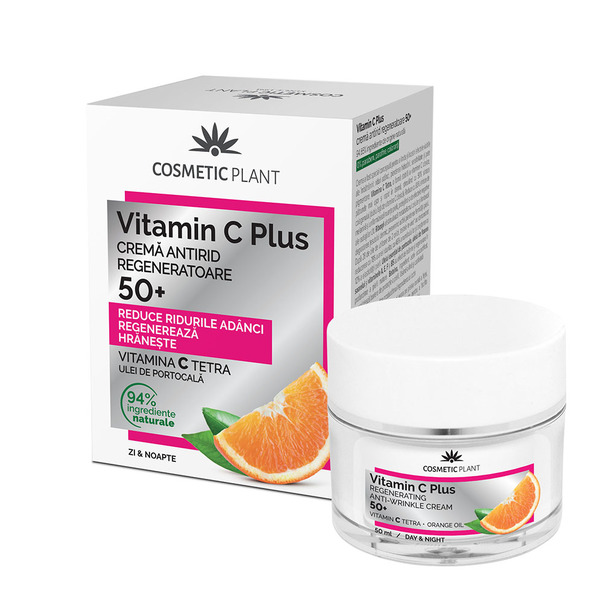 Crema antirid regeneratoare Cosmetic Plant Vitamin C Plus 50+, 50 ml